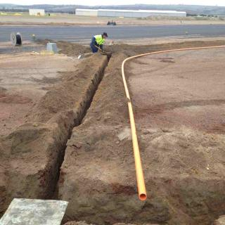 Installation of pits and ducting Taxiway Bravo Project